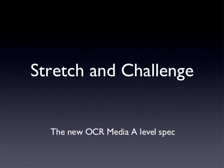 Stretch and Challenge - July 9th