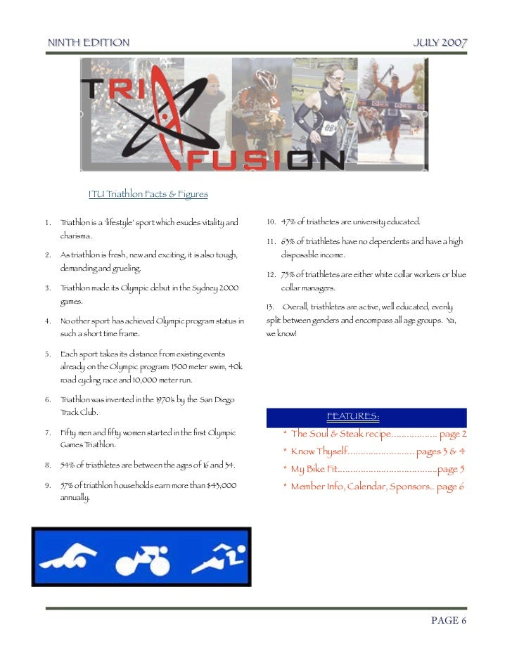 TriFusion Newsletter - July '07