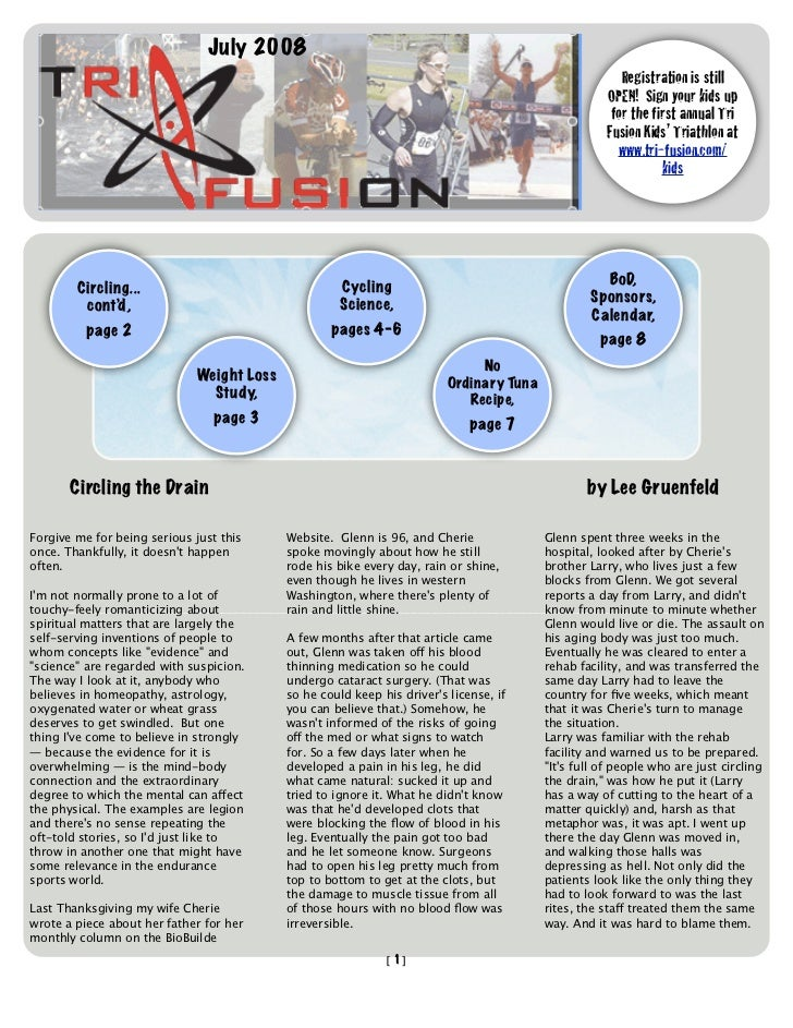 TriFusion Newsletter - July '08