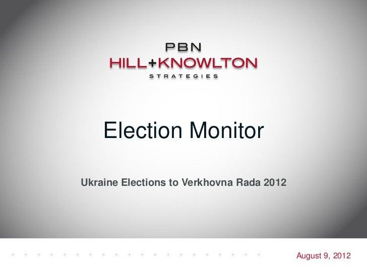 July 2012 election monitor no. 1