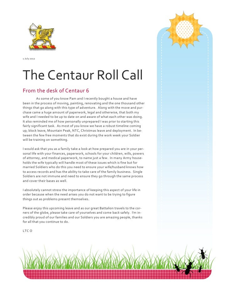 July/August 2012 Newsletter
