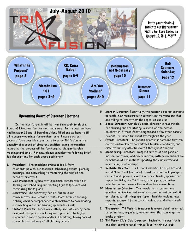 TriFusion Newsletter - July - Aug.'10