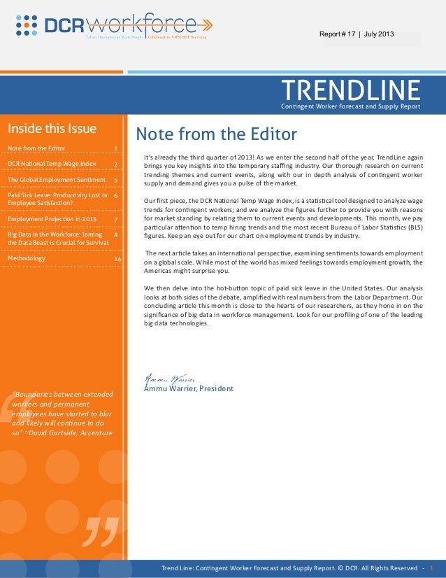 """"""" """"It's already the third quarter of 2013! As we enter the second half of the year, TrendLine againbrings you key insights..."""