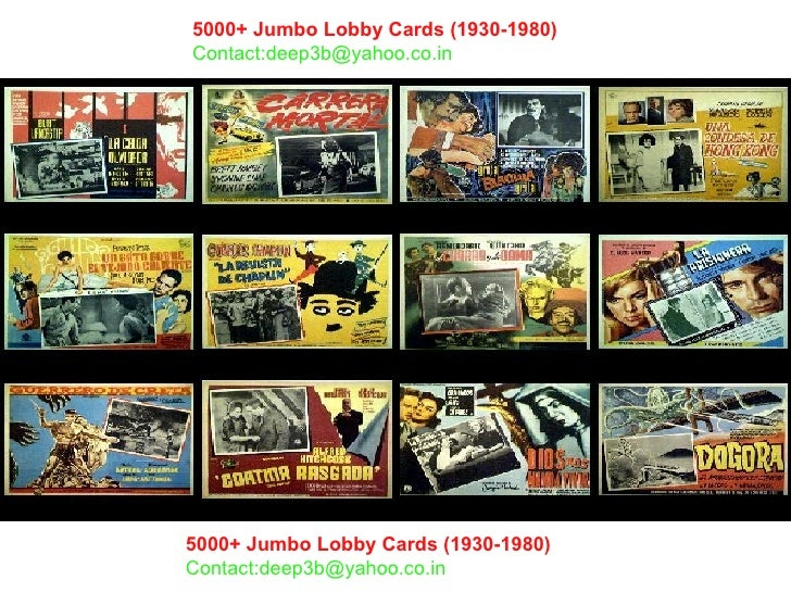 5000+ Jumbo Lobby Cards (1930-1980)   Contact:deep3b@yahoo.co.in 5000+ Jumbo Lobby Cards (1930-1980)   Contact:deep3b@yaho...