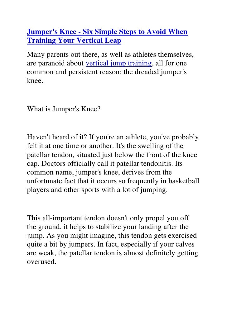 """HYPERLINK """"http://www.articlesbase.com/basketball-articles/jumper039s-knee-six-simple-steps-to-avoid-when-training-your-ve..."""