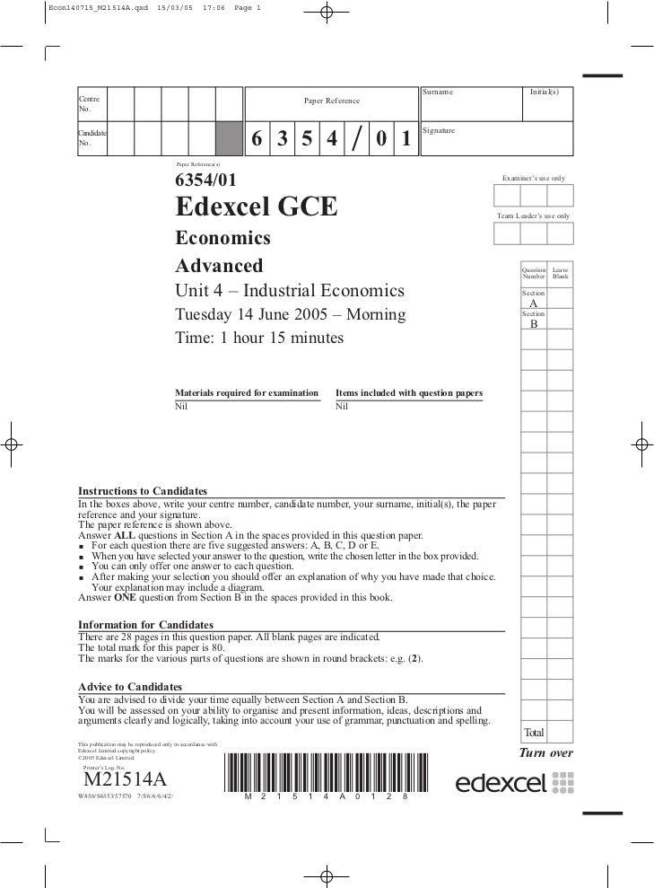 past economics papers aqa