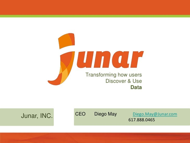 Transforming how users                        Discover & Use                                  DataJunar, INC.   CEO   Dieg...