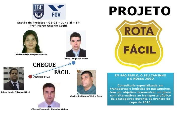 PROJETO             Gestão de Projetos - GE-28 – Jundiaí – SP                        Prof. Marco Antonio Coghi            ...