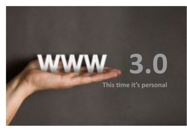 web 3.0 this time its personal