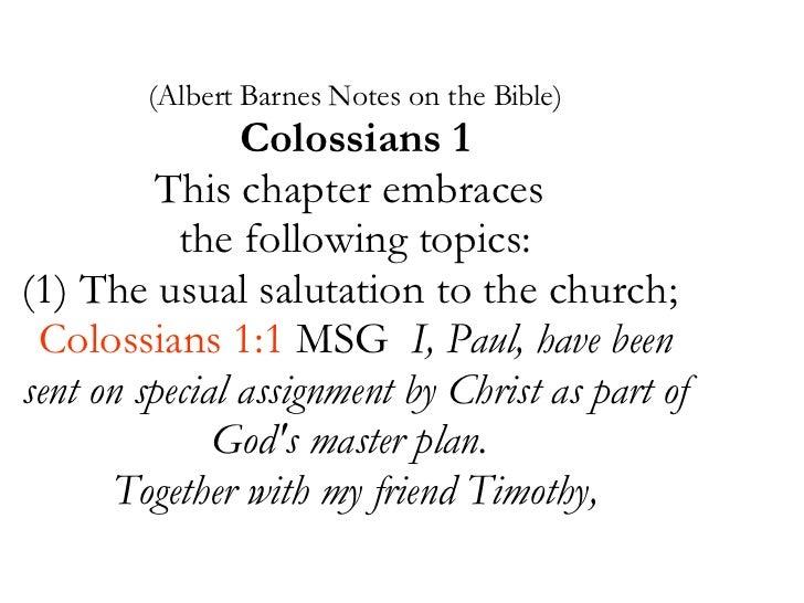 June 24-30-07 Colossians