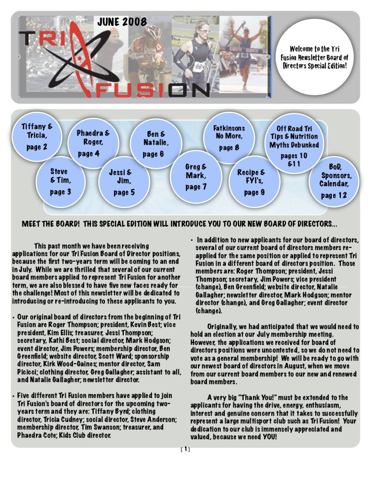 TriFusion Newsletter - June.'08