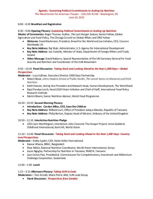 June 10 agenda