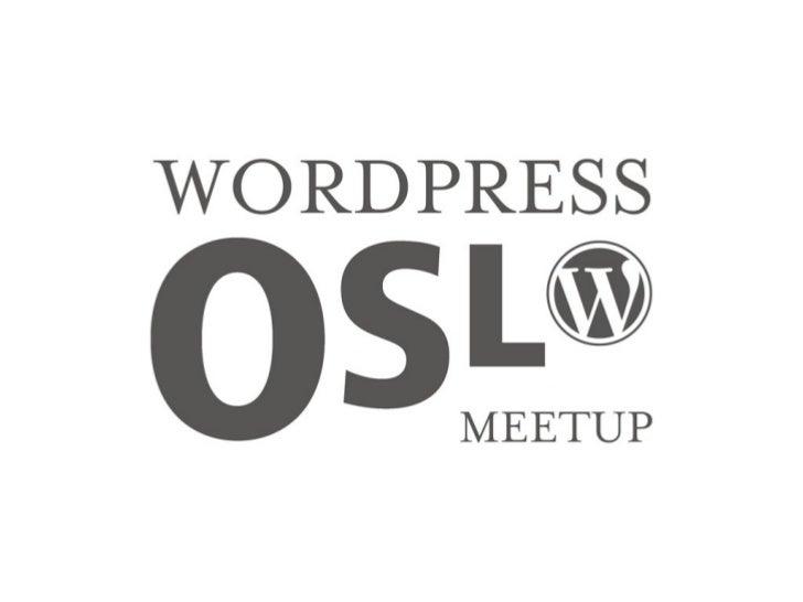 Oslo WordPress Meetup - June 15, 2011