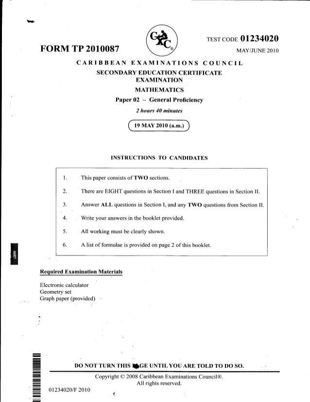 Cxc practice papers online