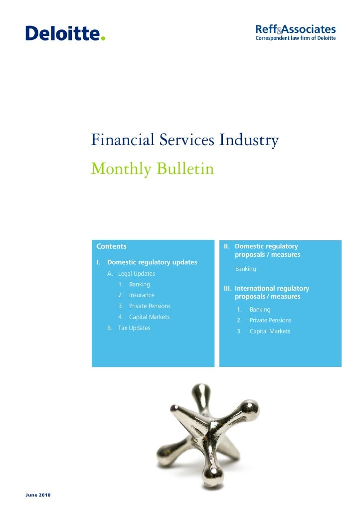 June 2010 Financial Services Industry Monthly