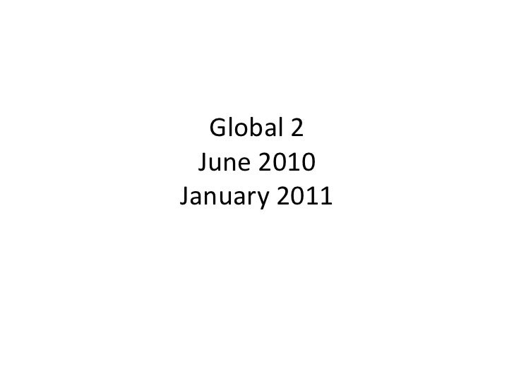 June 2010 global exam