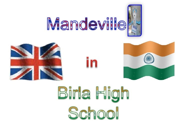 Mandeville entering Birla High with a visitor's pass