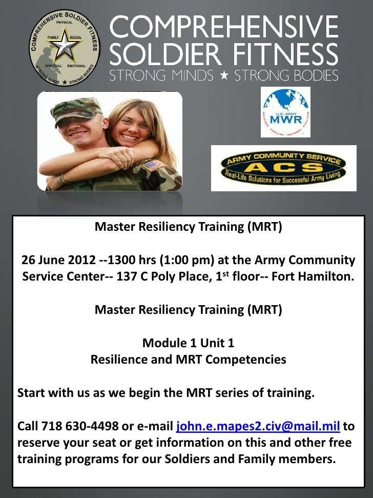 June 2012 Master Resiliency Training