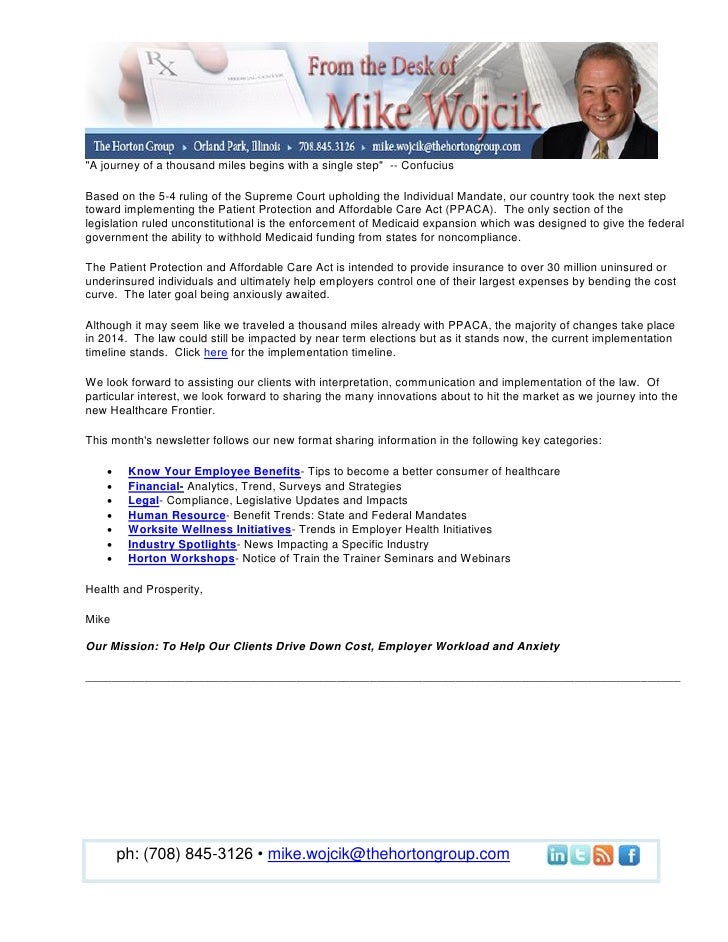 From the Desk of Mike Wojcik June Newsletter