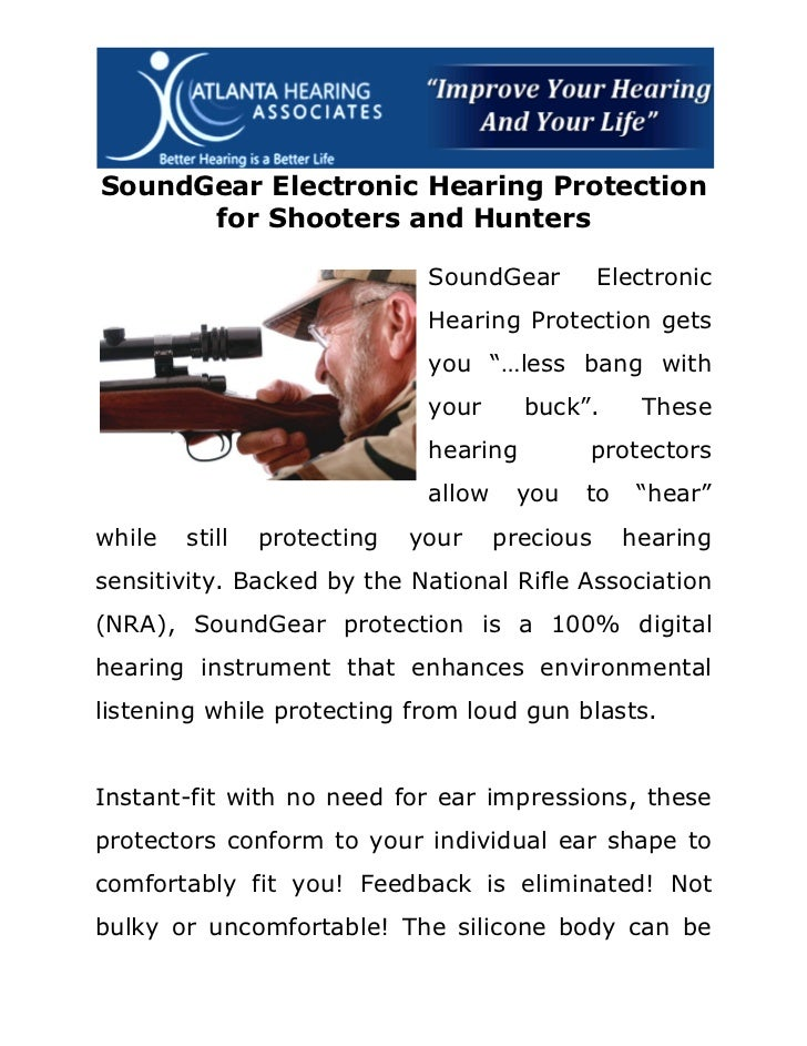 SoundGear Electronic Hearing Protection for Shooters and Hunters