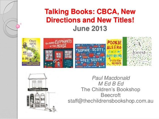 Paul MacDonald Childrens Bookshop June 2013