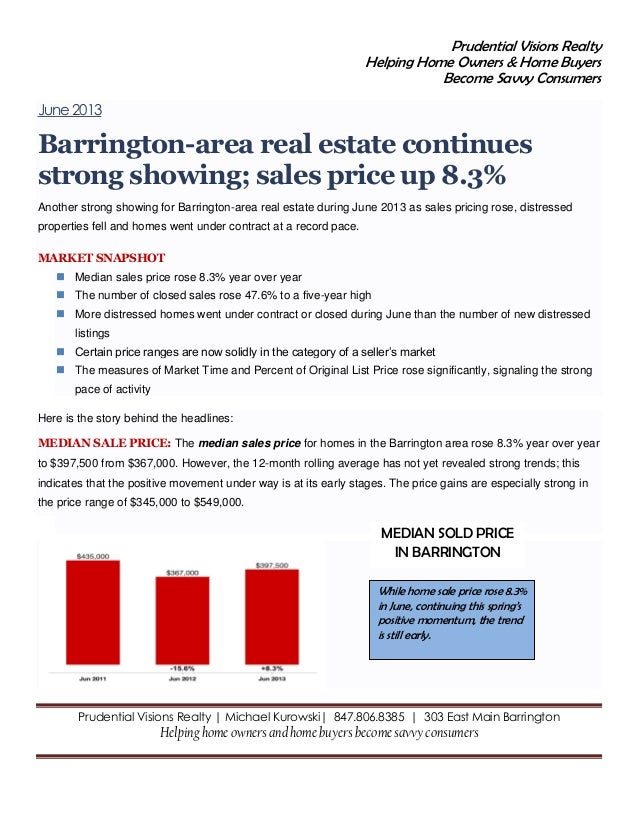 June 2013 Barrington Market Report