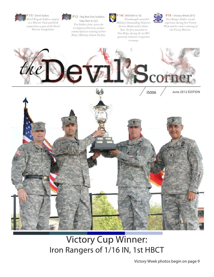 P 11/ Devil Stakes                   P12 / Big Red One Soldiers          P 14/ MOVSM w/ SS                   P19 / Victory...