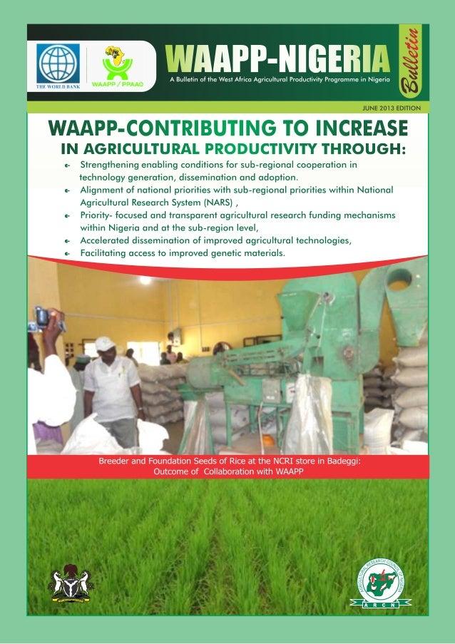 WAAPP Nigeria Bulletin June 2013 Edition