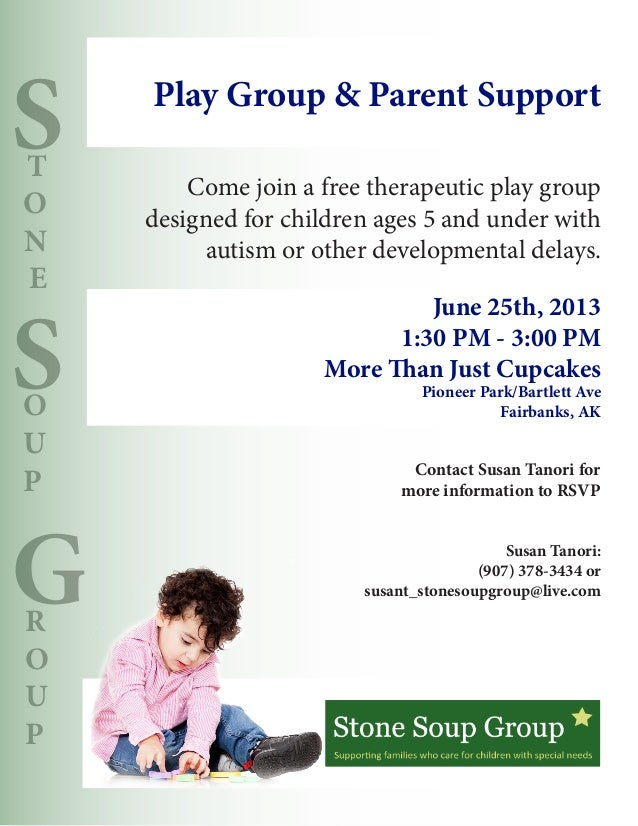 SSGTONEOUPROUPCome join a free therapeutic play groupdesigned for children ages 5 and under withautism or other developmen...