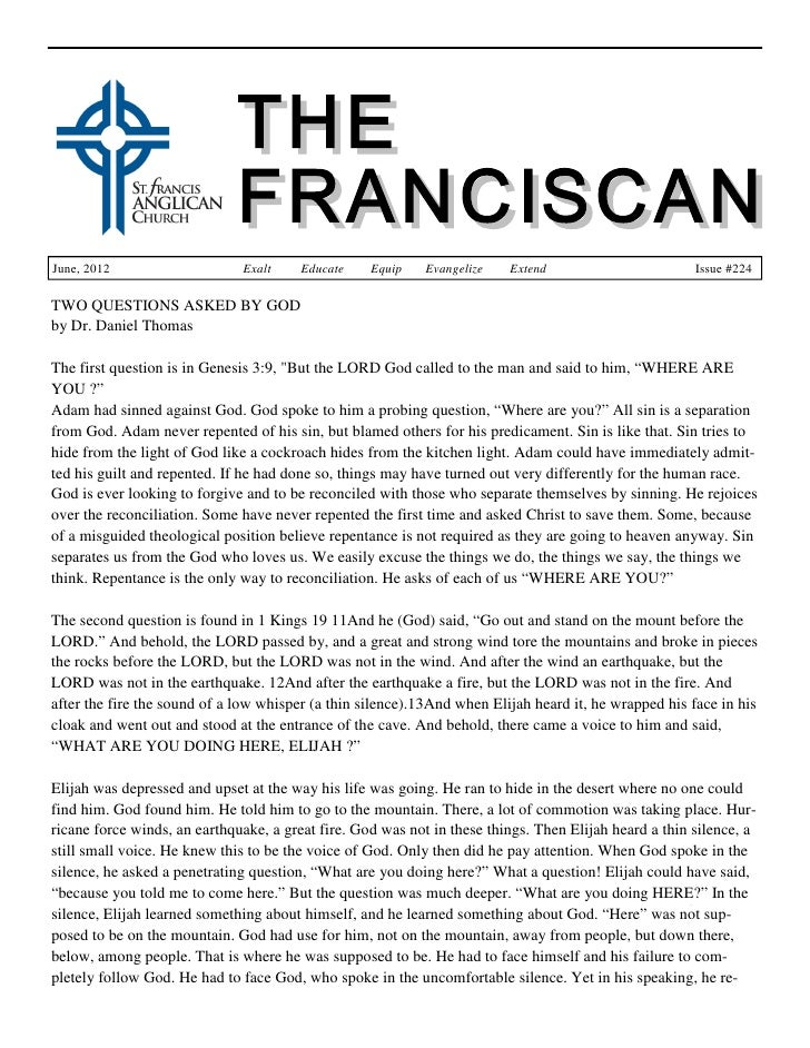 The Franciscan - June 2012