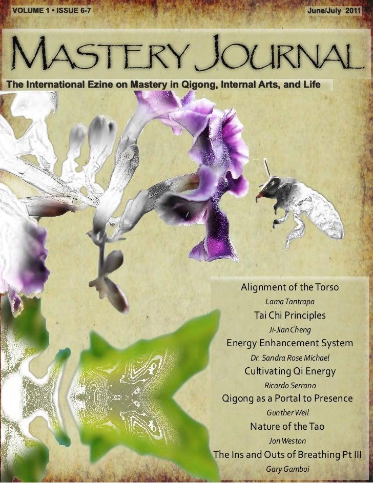 VOLUME 1 • ISSUE 6-7                                                   June/July 2011Mastery JournalThe International Ezin...