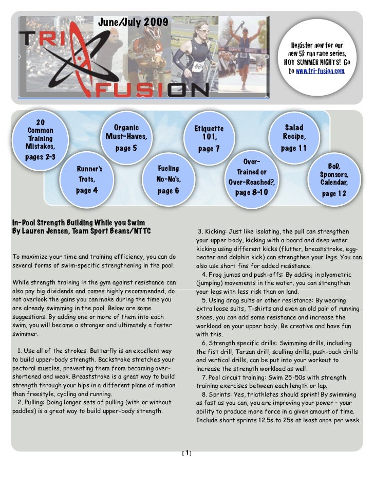TriFusion Newsletter - June - July '09