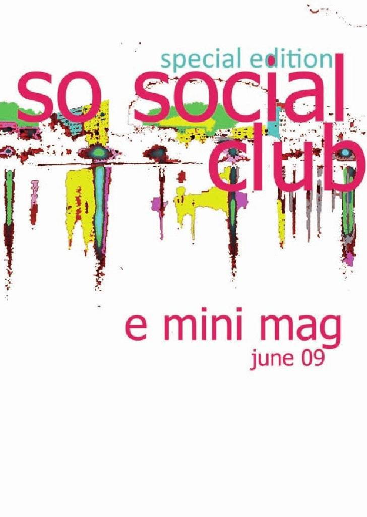 SoSocialClubinJune Mon1 Sneak‐Preview            at the Cinestar Every first Monday of the month there is a sneak-p...