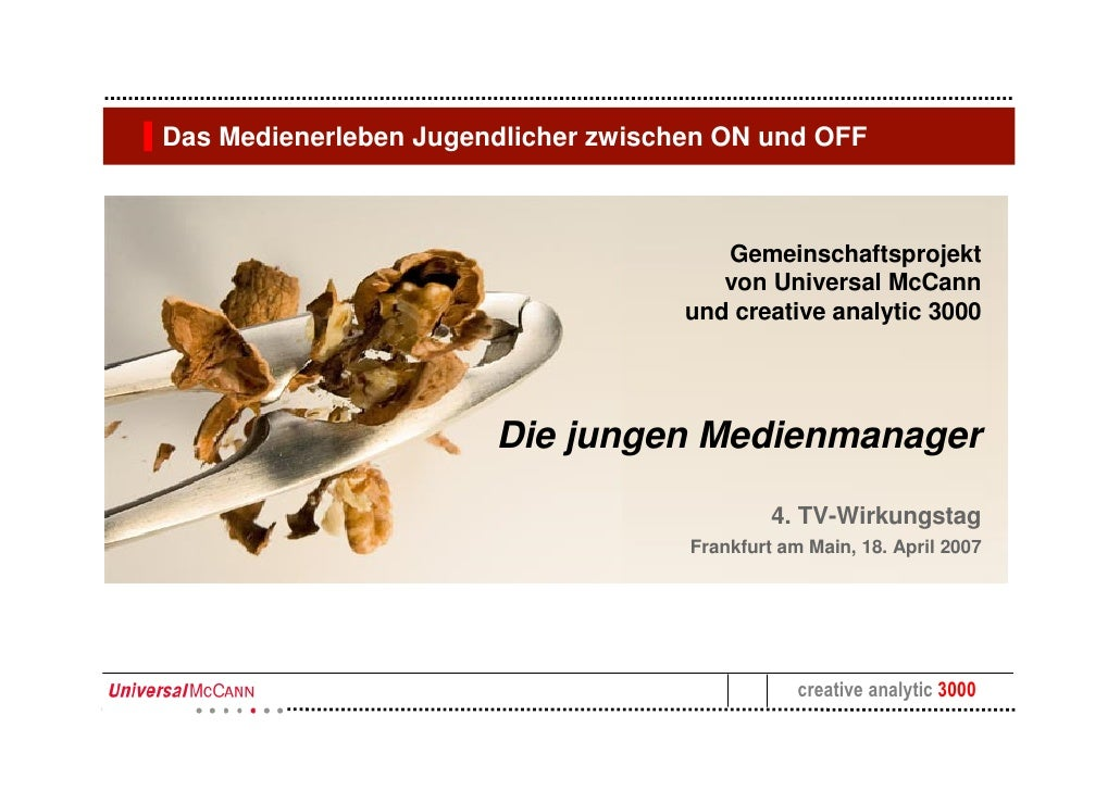 Das Medienerleben Jugendlicher zwischen ON und OFF                                            Gemeinschaftsprojekt        ...