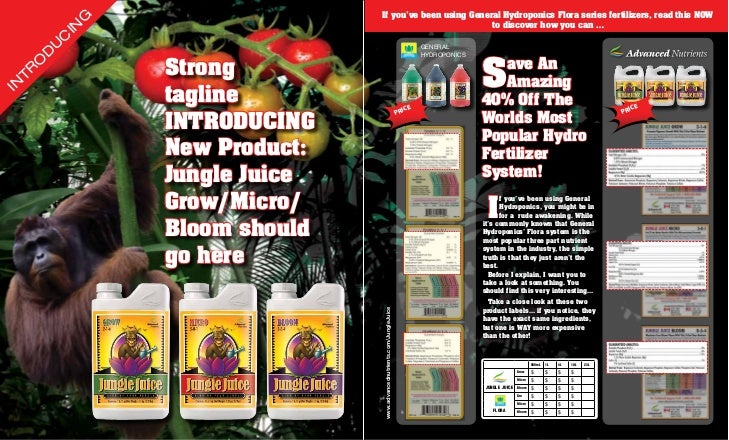 Attention General Hydroponics Grow Micro Bloom Customers, now get your GMB at a fraction of the cost