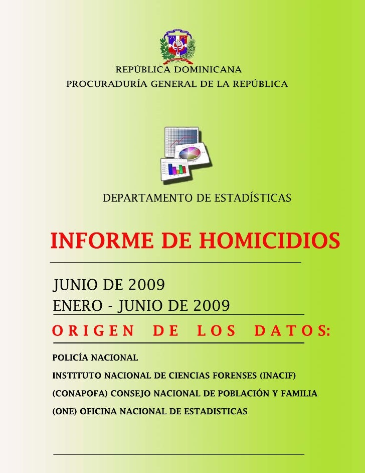 Estadisticas Criminalidad Junio 2009