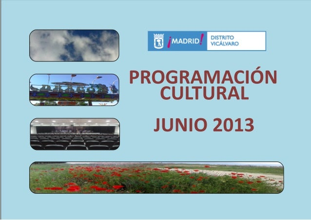 Programación Cultural Vicálvaro, junio 2013