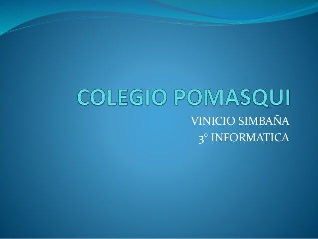 VINICIO SIMBAÑA 3° INFORMATICA