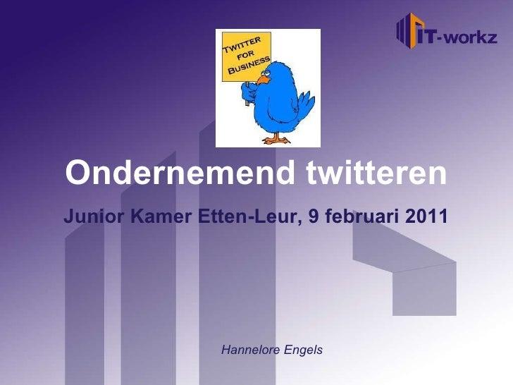 Juniorkamer workshop twitter