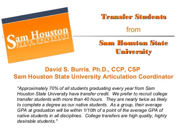 Sam houston state admissions essay