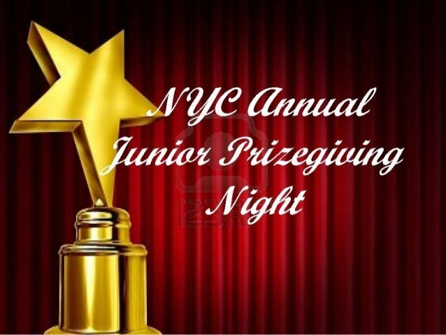 Junior prize giving night 2012