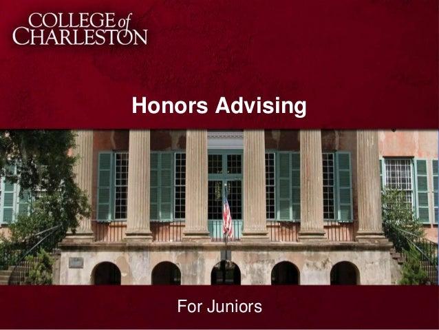 Honors Advising  For Juniors
