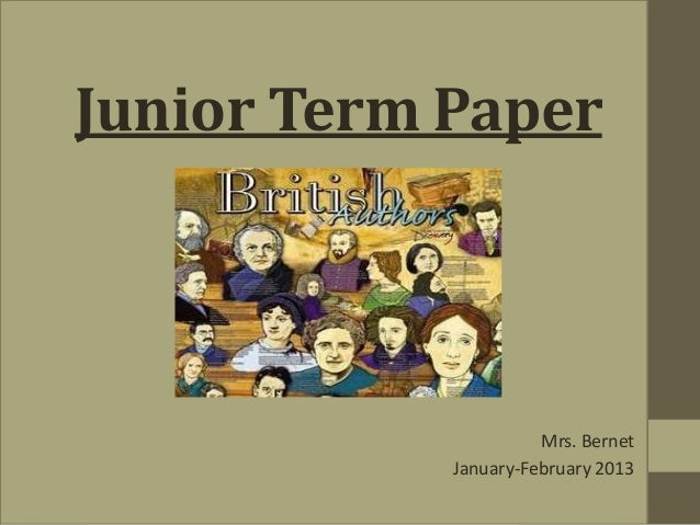Junior Term Paper                      Mrs. Bernet            January-February 2013