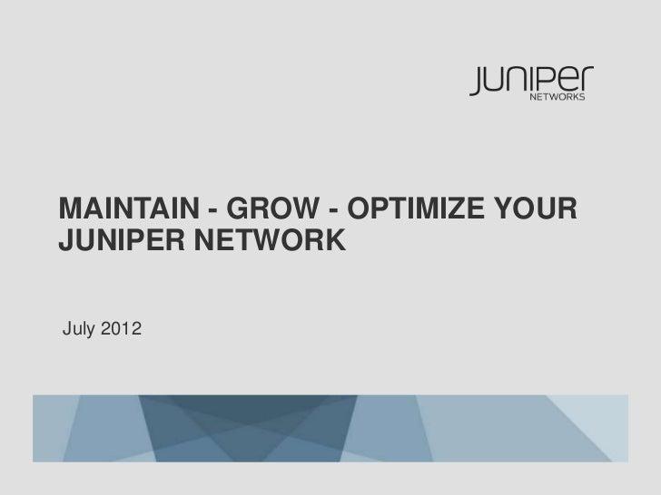 Juniper Operate Specialist Market Value