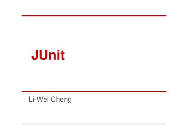 JUnitLi-Wei Cheng