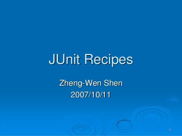 Junit Recipes - Intro