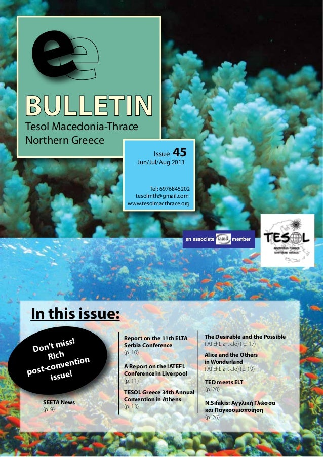 TESOL Macedonia-Thrace Northern Greece E-Bulletin Issue 45