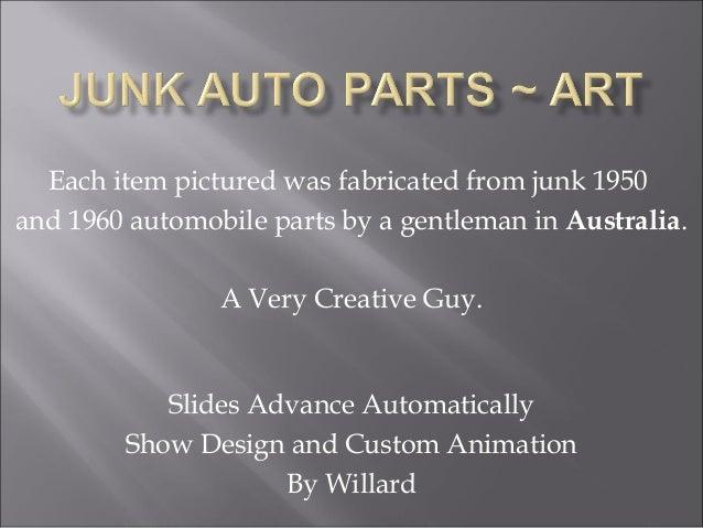 Junk auto parts~art