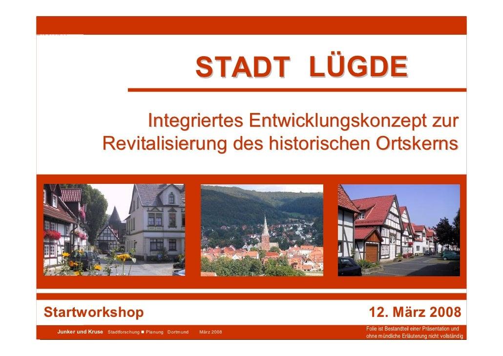 Stadt Lügde                                                       Integriertes Entwicklungskonzept                        ...