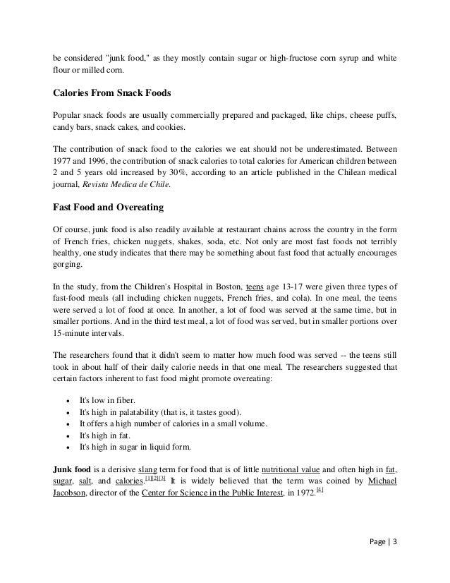 food essays